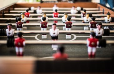 tafelvoetbalspel samenwerken