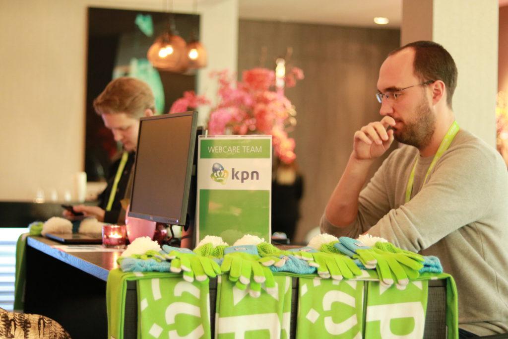 Webcare team KPN op Social Service Congres