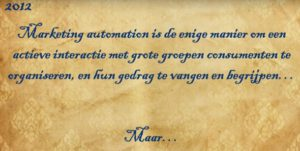 Marketing automation organiseert actieve interactie