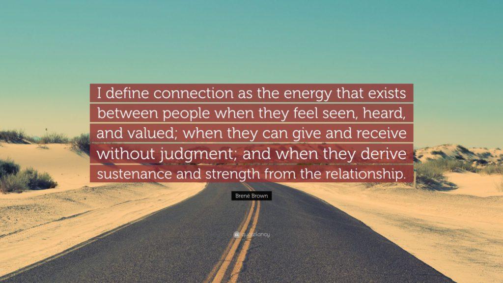 Definitie van Verbinding - Brené Brown